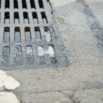 Blocked Sewer Drain.