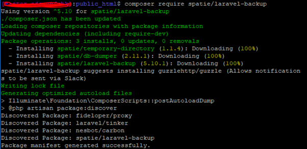 Backup Package Installation