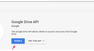 Getting Google Drive API 3