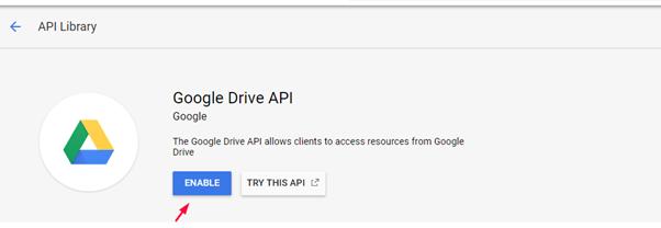 Getting Google Drive API 3
